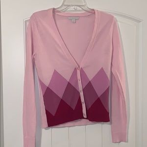 New York and Company pink cardigan size small
